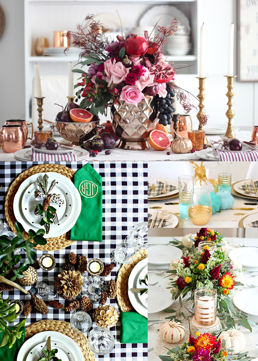 Unexpected pops of color for Thanksgiving to make your table setting a standout