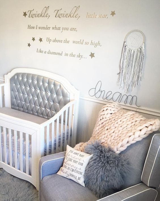 Glam modern baby girl nursery