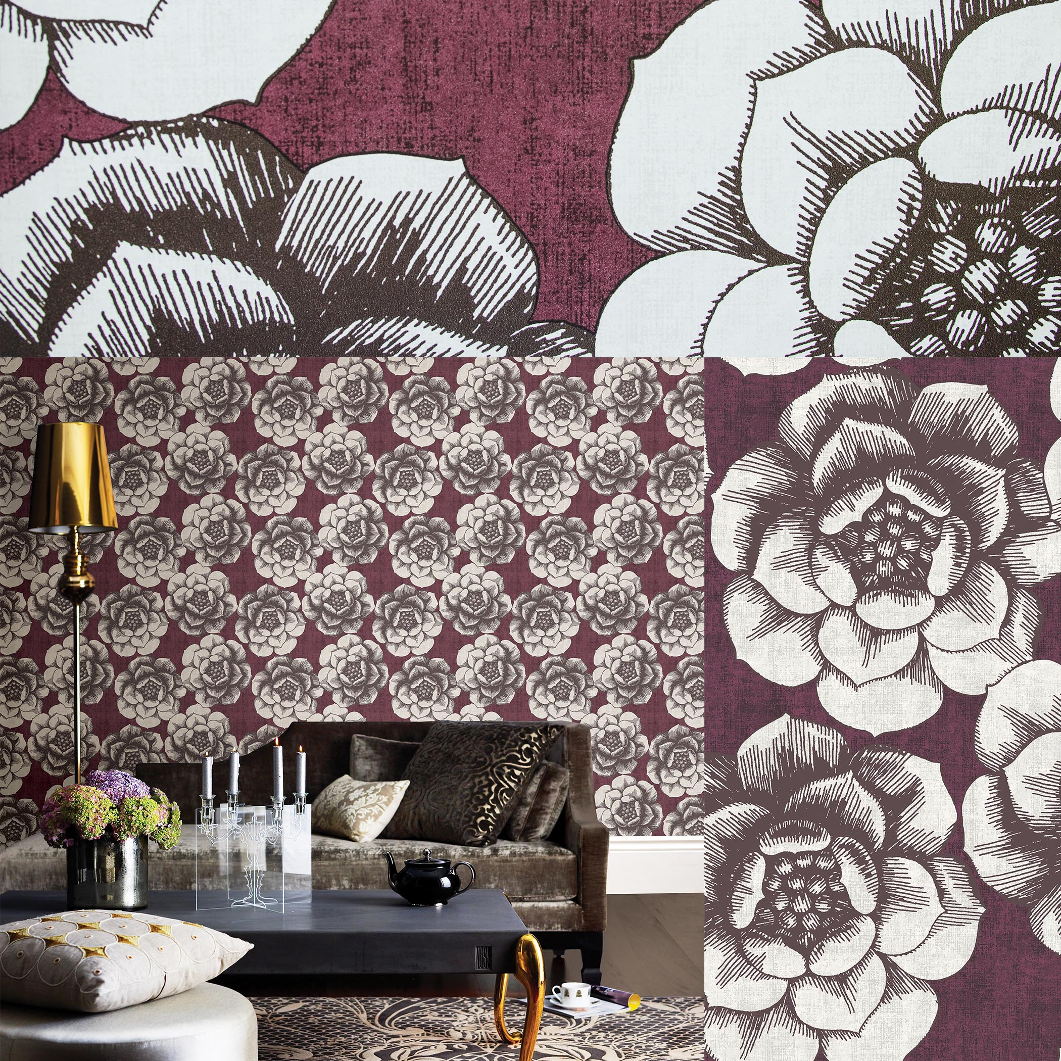 Moonlight Wallpaper Collection Dark Dreamy And Bold Brewster Home