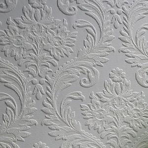 Paintable damask wallpaper