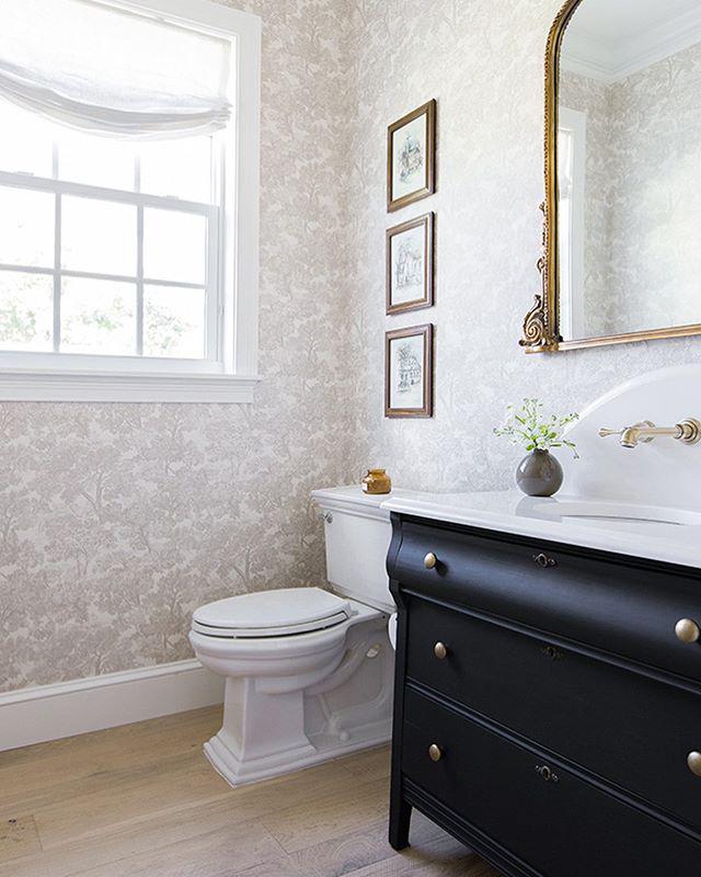 Elegant tree toile bathroom renovation 2