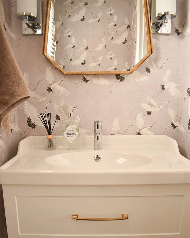 Eclectic & elegant powder room renovation 2