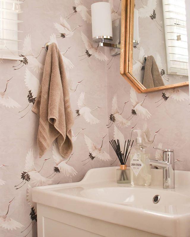 Eclectic & elegant powder room renovation