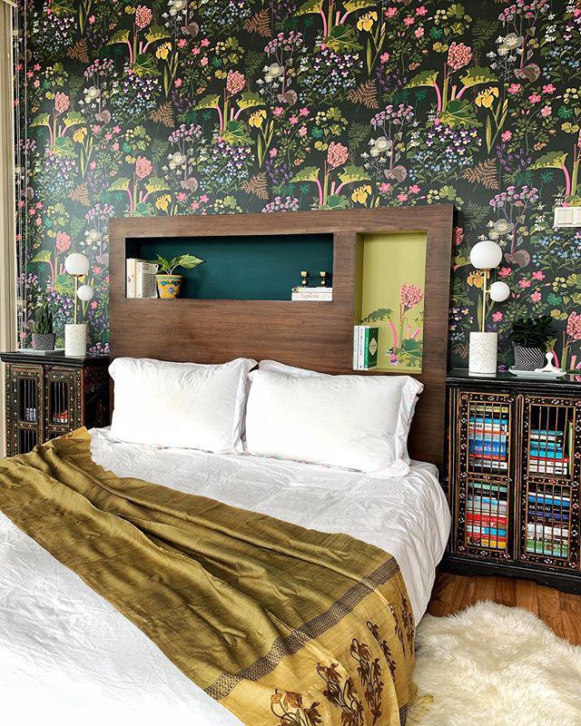 Bold Botanical Bedroom Design