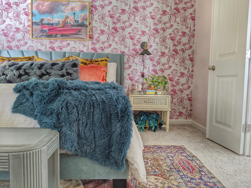 Express yourself, like Amber did with her bold, beautiful retro-bohemian bedroom.