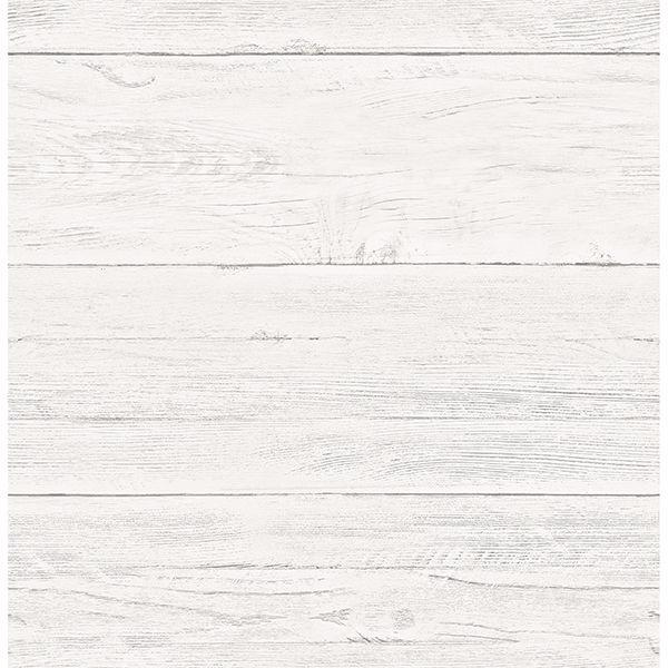 White Shiplap Wallpaper